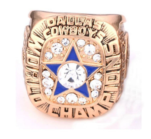 wazin - Dallas Cowboys 1971 NFL Male Silver Star Ring -