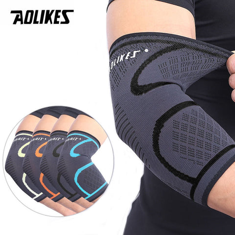 wazin - 1PCS Elbow Support Elastic Gym Elbow Protective Pad Brace -