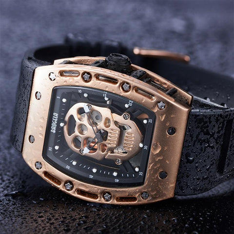 Men's Pirate Skull Hollow Silica Wristwatch