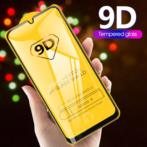wazin - 9D Curved Tempered Glass on the For Samsung Galaxy A30 A50 A10 Screen Protector on For Samsung M10 M20 M30 Protective Glass Film - Case