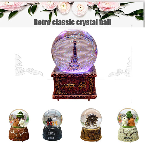 wazin - Glass Ball Music Box Gift Decoration Ornaments -