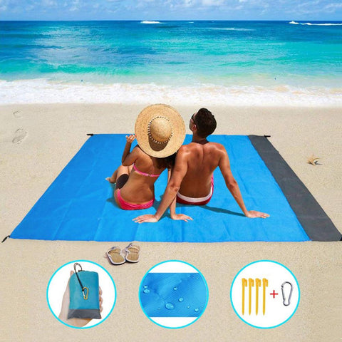 wazin - 2M*2M Waterproof Beach mat -