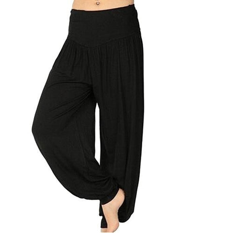 wazin - Women's Comfy Harem Loose Long Pants -