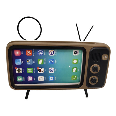 wazin - Bluetooth Speaker Retro TV Mobile Phone Holder -