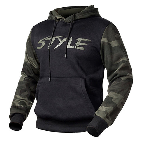wazin - Camouflage Fleece Men Hooded Sweatshirts -