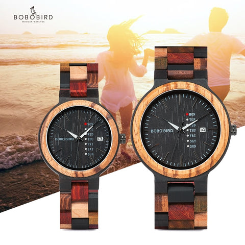 wazin - Timepiece Colorful Wooden Band Watch -