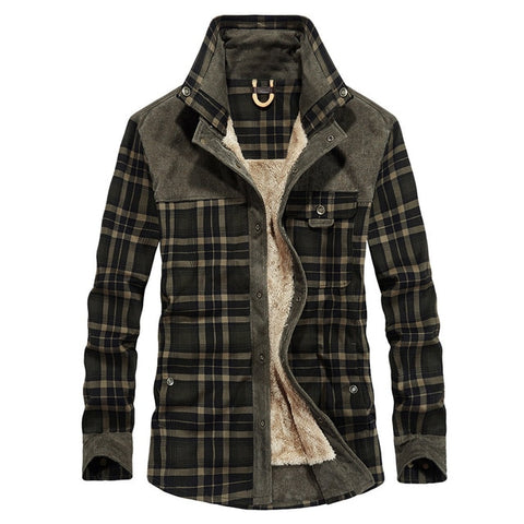 wazin - Men's Plaid Military Bomber Jackets -