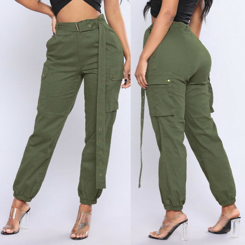 WOMEN'S CASUAL CARGO MILITARY COMBAT LEGGINGS
