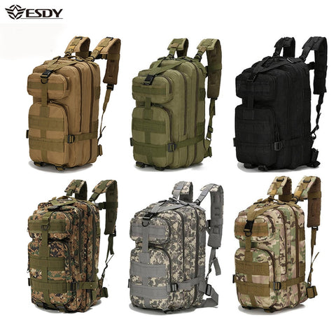 wazin - Outdoor Military Rucksacks Nylon Waterproof Tactical Sports Backpack -