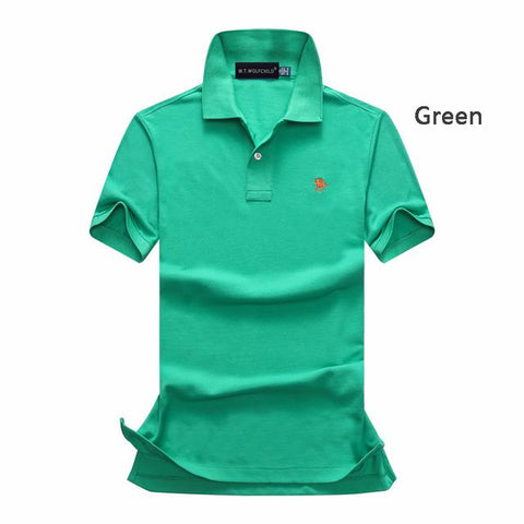 wazin - Men's Short Sleeve Solid Color Polo Shirts -