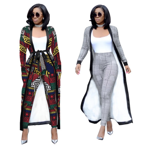 wazin - Women's 2 Piece Jacket + Crop top + Pants Set -