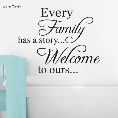 wazin - Every Family Has A Story Removable Art Wall Stickers -