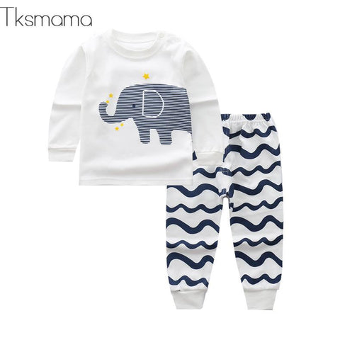 wazin - Baby Boy Elephant Clothing Set -