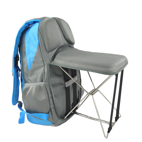 wazin - Hiking Backpack with Fold-able Built-In Bench Stool -