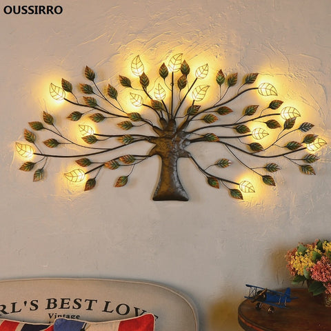 wazin - Iron LED Living Room Decorative Tree Light Decor -