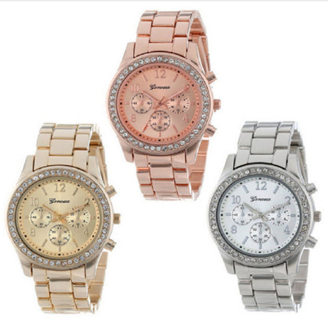 wazin - Geneva Classic Luxury Rhinestone Watch Women Watches Fashion Ladies Watch Women's Watches Clock Relogio Feminino Reloj Mujer - Women's Jewelry
