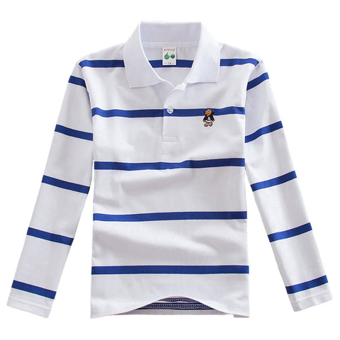 wazin - JXYSY Shirt Kids Clothes Stripes Boys Shirts Tops Cotton 2019 Spring Autumn Long Sleeve Casual Teen T-shirt For Boys Tops 3-15T -