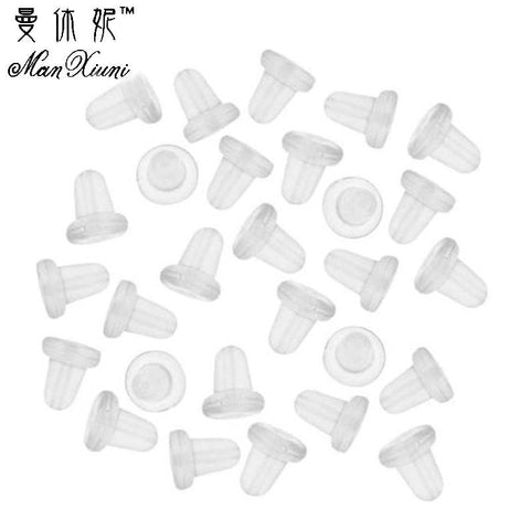 wazin - 150 Piece Clear Clutch Earring Safety Backs For Fish Hook Earrings - earrings