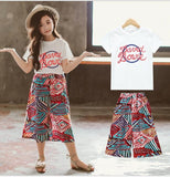 wazin - Girl's 2 Piece Top & Pants Set - Girls Clothing