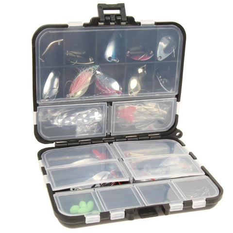 wazin - 37Pcs/Set Metal Spoon Fishing Lure Kits -
