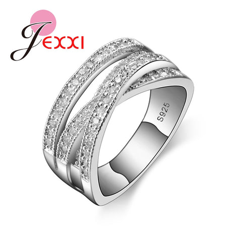 wazin - Jemmin New Fashion Rings For Women Party Elegant Luxury Bridal Jewelry S90 Silver Color Wedding Engagement Ring High Quality - Women's Jewelry