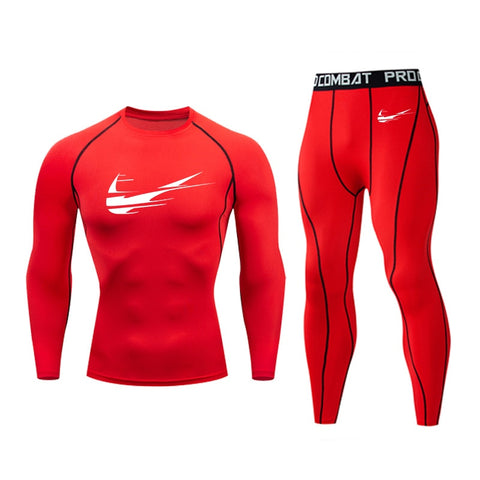 New Men's Compression Bodybuilding Exercise Sportwear