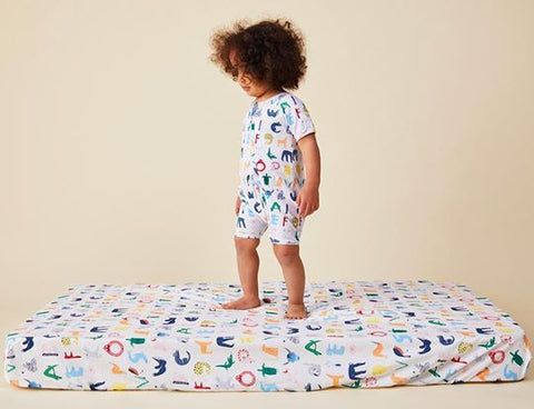 ABC of animals- Fitted cot sheet
