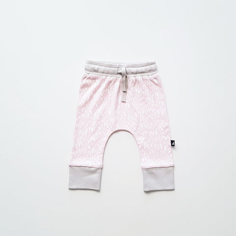 Organic Paint pants (Ice pink / grey)
