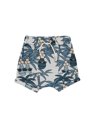 Blue Palm Shorts