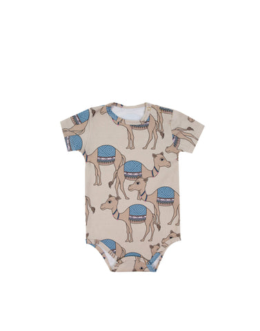 Camel Sand Short Sleeve Bodysuit