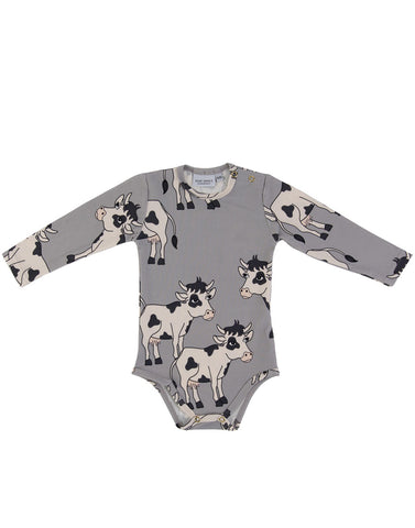 Cow Grey Bodysuit