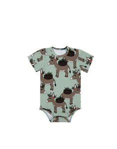 Donkey Mint Short Sleeve Bodysuit