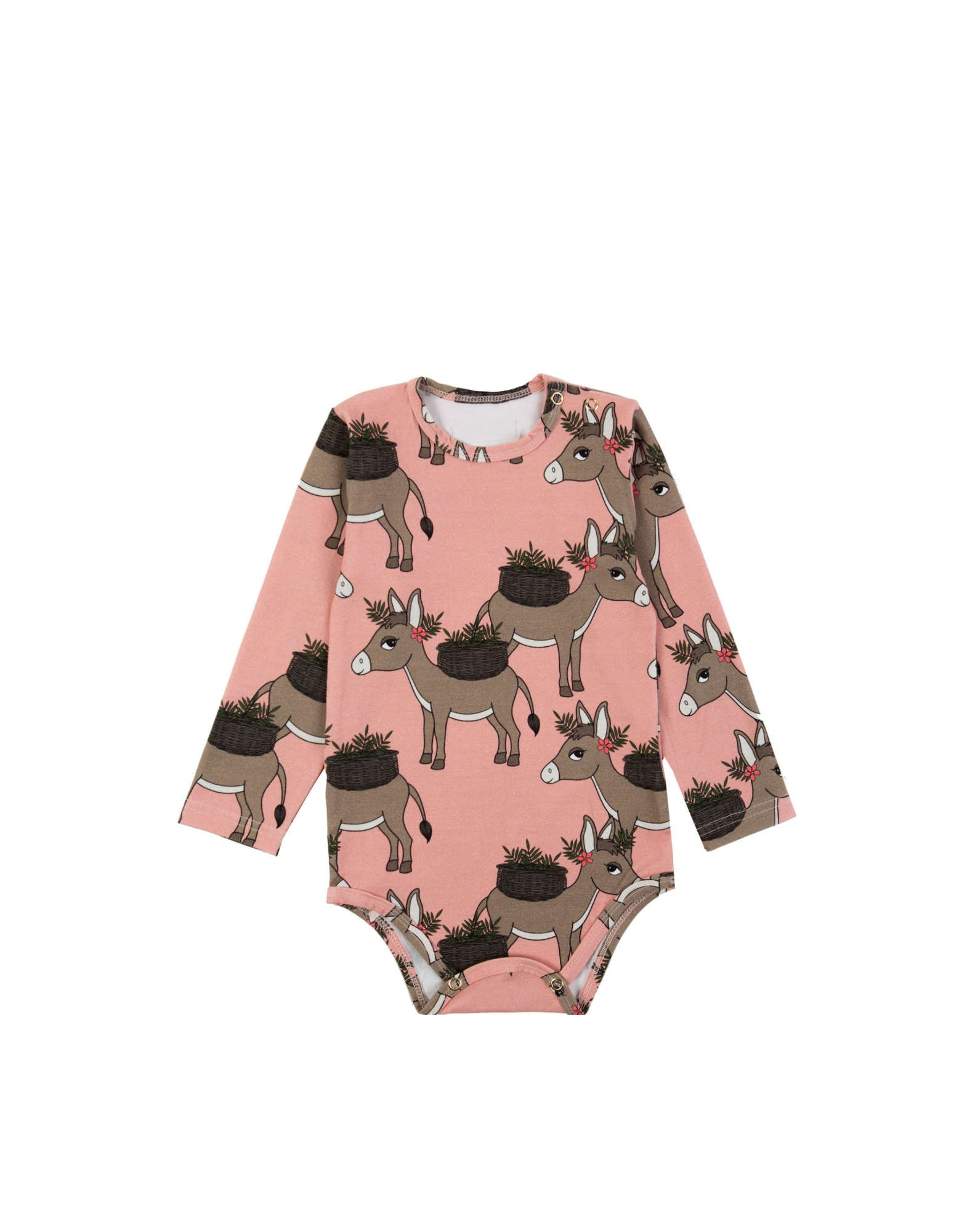 Donkey Pink Long Sleeve Bodysuit