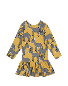Donkey Yellow Long Sleeve Dress