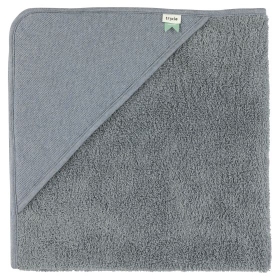 Hooded towel + wash cloth - Grain Blue