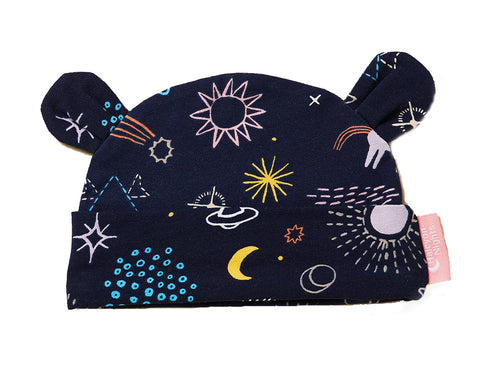 Lunar baby hat (Milky way)