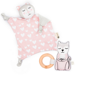 Kitty Blankie + Rattle Gift Set