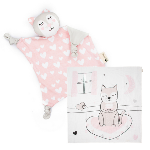 Kitty Blankie + Wrap Gift Set
