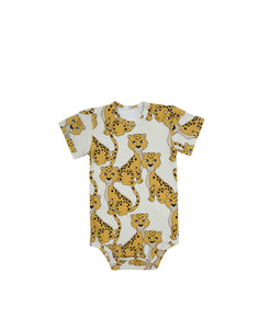 Leo Ecru Short Sleeve Bodysuit