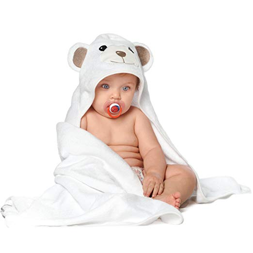 Soft Organic Bamboo Baby Hooded Towel