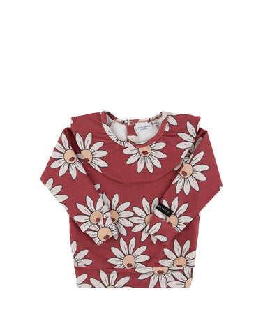 Red Daisy Jersey Frilled Longsleeve