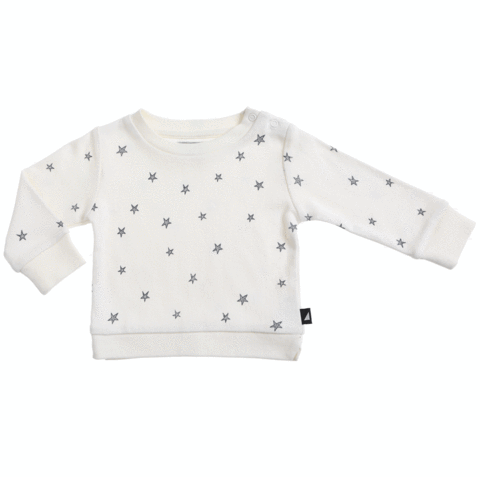 Organic Starry Night Jumper Lily White