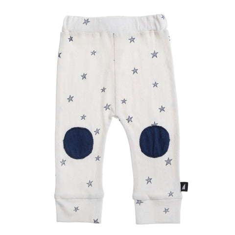 Starry Night Patch Leggings Lily White