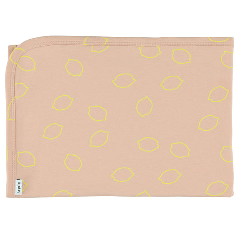 Cotton blanket - Lemon Squash (75 x 100cm )