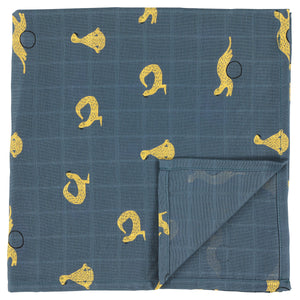 Muslin cloths Whippy Weasel (120x120cm) - set of 2 pieces