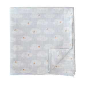 Muslin cloths Clouds (120 x 120cm) - set of 2 pieces