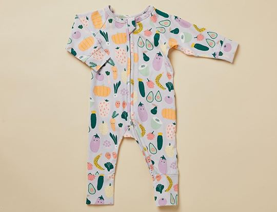 Long sleeve zip suit (Winter garden)