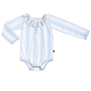 Organic Block Stripe Frill Neck Leotard