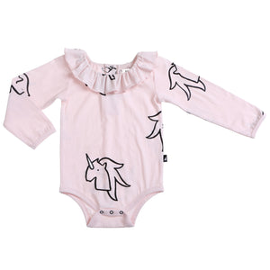 Organic Unicorn Frill Neck Bodysuit
