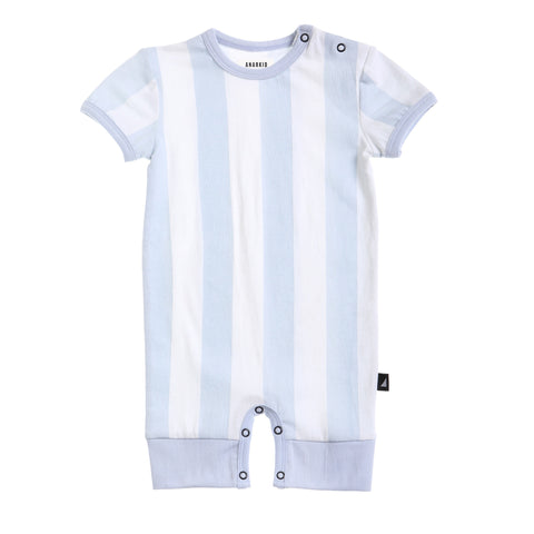 Organic Block Stripe Romper Shortsleeves